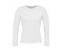 Ladies t-shirt B&C long sleeve λευκό